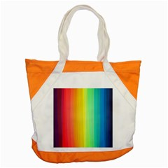 Sweet Colored Stripes Background Accent Tote Bag