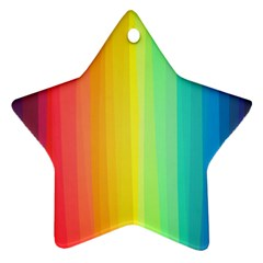 Sweet Colored Stripes Background Star Ornament (Two Sides)