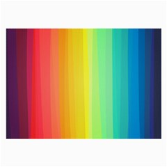 Sweet Colored Stripes Background Large Glasses Cloth