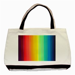 Sweet Colored Stripes Background Basic Tote Bag (Two Sides)