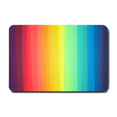 Sweet Colored Stripes Background Small Doormat