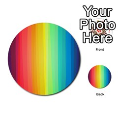 Sweet Colored Stripes Background Multi Purpose Cards (round)