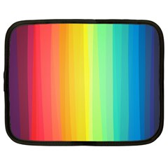 Sweet Colored Stripes Background Netbook Case (Large)