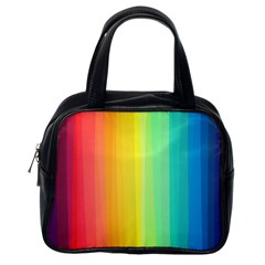 Sweet Colored Stripes Background Classic Handbags (One Side)