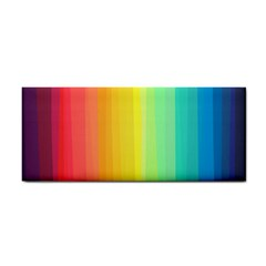 Sweet Colored Stripes Background Hand Towel
