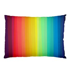 Sweet Colored Stripes Background Pillow Case