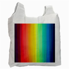 Sweet Colored Stripes Background Recycle Bag (One Side)
