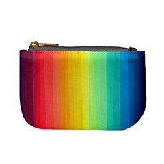Sweet Colored Stripes Background Mini Coin Purses