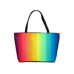 Sweet Colored Stripes Background Shoulder Handbags