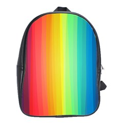 Sweet Colored Stripes Background School Bags(Large)