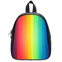 Sweet Colored Stripes Background School Bags (Small)