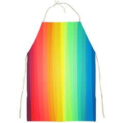 Sweet Colored Stripes Background Full Print Aprons