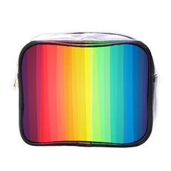 Sweet Colored Stripes Background Mini Toiletries Bags