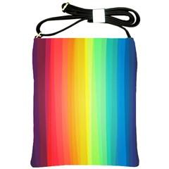Sweet Colored Stripes Background Shoulder Sling Bags