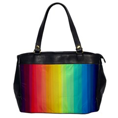 Sweet Colored Stripes Background Office Handbags