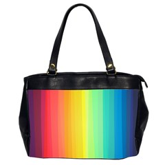 Sweet Colored Stripes Background Office Handbags (2 Sides)