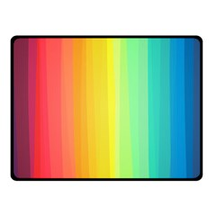 Sweet Colored Stripes Background Fleece Blanket (Small)