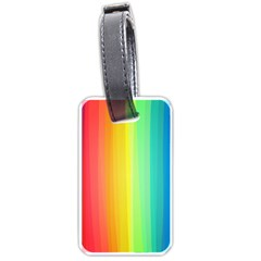 Sweet Colored Stripes Background Luggage Tags (Two Sides)