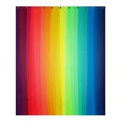 Sweet Colored Stripes Background Shower Curtain 60  x 72  (Medium)
