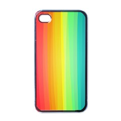 Sweet Colored Stripes Background Apple iPhone 4 Case (Black)