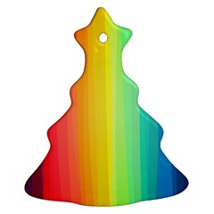 Sweet Colored Stripes Background Christmas Tree Ornament (2 Sides)