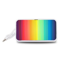 Sweet Colored Stripes Background Portable Speaker (White)