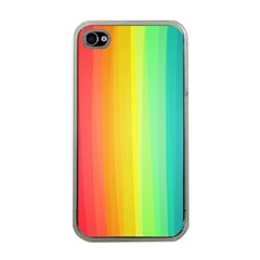 Sweet Colored Stripes Background Apple iPhone 4 Case (Clear)