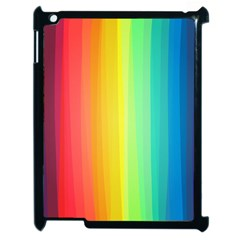 Sweet Colored Stripes Background Apple iPad 2 Case (Black)