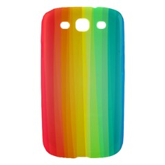 Sweet Colored Stripes Background Samsung Galaxy S III Hardshell Case