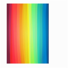 Sweet Colored Stripes Background Large Garden Flag (Two Sides)