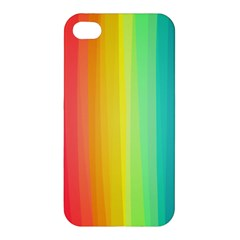 Sweet Colored Stripes Background Apple iPhone 4/4S Premium Hardshell Case