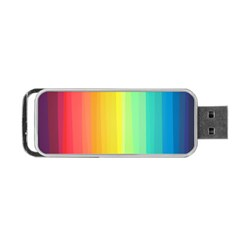 Sweet Colored Stripes Background Portable USB Flash (One Side)