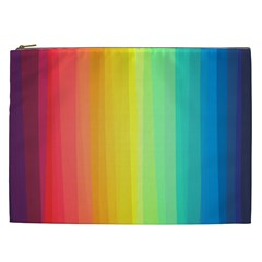 Sweet Colored Stripes Background Cosmetic Bag (XXL)