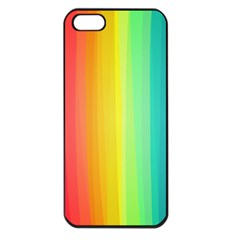 Sweet Colored Stripes Background Apple iPhone 5 Seamless Case (Black)