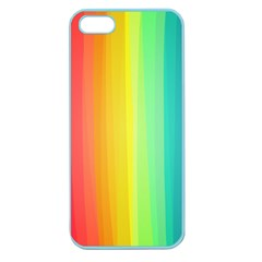 Sweet Colored Stripes Background Apple Seamless iPhone 5 Case (Color)