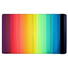 Sweet Colored Stripes Background Apple iPad 2 Flip Case