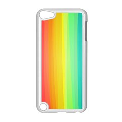Sweet Colored Stripes Background Apple iPod Touch 5 Case (White)