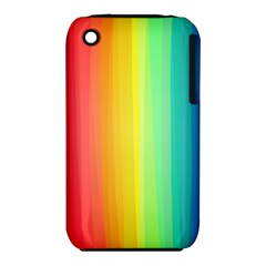 Sweet Colored Stripes Background Apple iPhone 3G/3GS Hardshell Case (PC+Silicone)