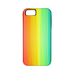 Sweet Colored Stripes Background Apple iPhone 5 Classic Hardshell Case (PC+Silicone)