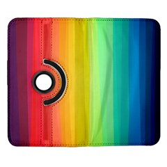 Sweet Colored Stripes Background Samsung Galaxy Note II Flip 360 Case
