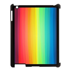 Sweet Colored Stripes Background Apple iPad 3/4 Case (Black)