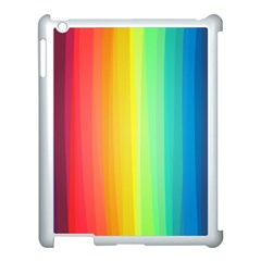Sweet Colored Stripes Background Apple iPad 3/4 Case (White)