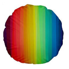 Sweet Colored Stripes Background Large 18  Premium Round Cushions