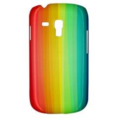 Sweet Colored Stripes Background Samsung Galaxy S3 MINI I8190 Hardshell Case
