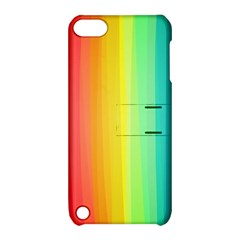 Sweet Colored Stripes Background Apple iPod Touch 5 Hardshell Case with Stand