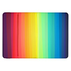 Sweet Colored Stripes Background Samsung Galaxy Tab 8.9  P7300 Flip Case