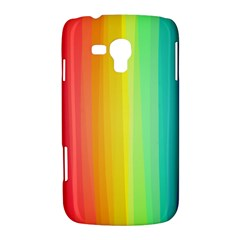 Sweet Colored Stripes Background Samsung Galaxy Duos I8262 Hardshell Case