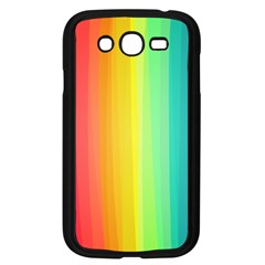 Sweet Colored Stripes Background Samsung Galaxy Grand DUOS I9082 Case (Black)