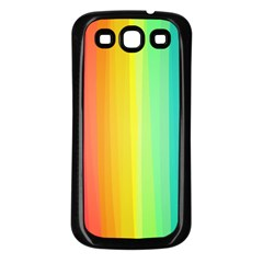 Sweet Colored Stripes Background Samsung Galaxy S3 Back Case (Black)