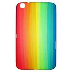 Sweet Colored Stripes Background Samsung Galaxy Tab 3 (8 ) T3100 Hardshell Case